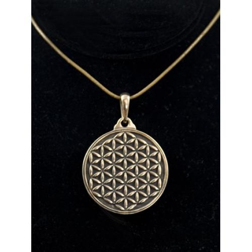 Fol merkaba pendant in bronze flower of life fol merkaba pendant in bronze aloadofball Gallery